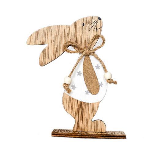 Kaninchen Osterhase Holzhase Osterdeko Bunte Ostern Chic Geschenk für Kinder