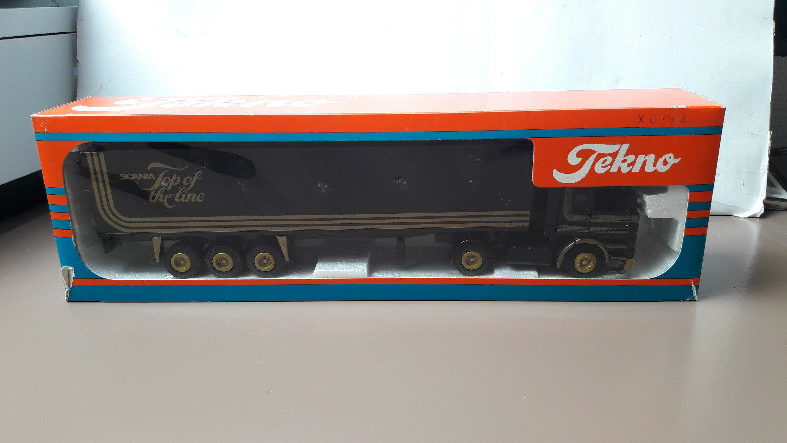 Tekno Scania 142M Top of the Line  Trailer    1 50  Org. in OVP  PROMO SELTEN
