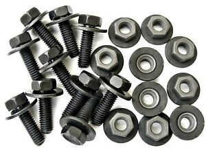 200pcs #147B 10mm Hex Ford Truck Body Bolts /& U-nut Clips M6-1.0 x 25mm Long