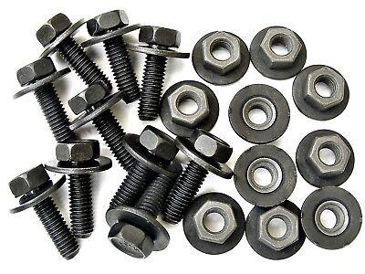 20 pcs 10mm Hex Mazda Body Bolts /& Flange Nuts #125 M6-1.0 x 20mm Long