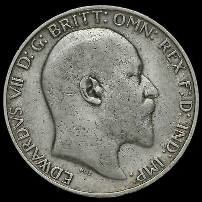 1907 Edward VII Silver Florin, Fine #4