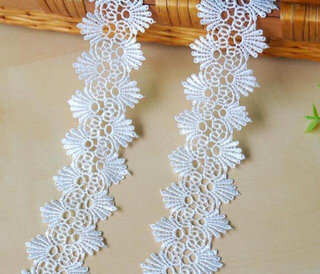 per metre White 50mm wide Decorative Guipure Lace Trimming