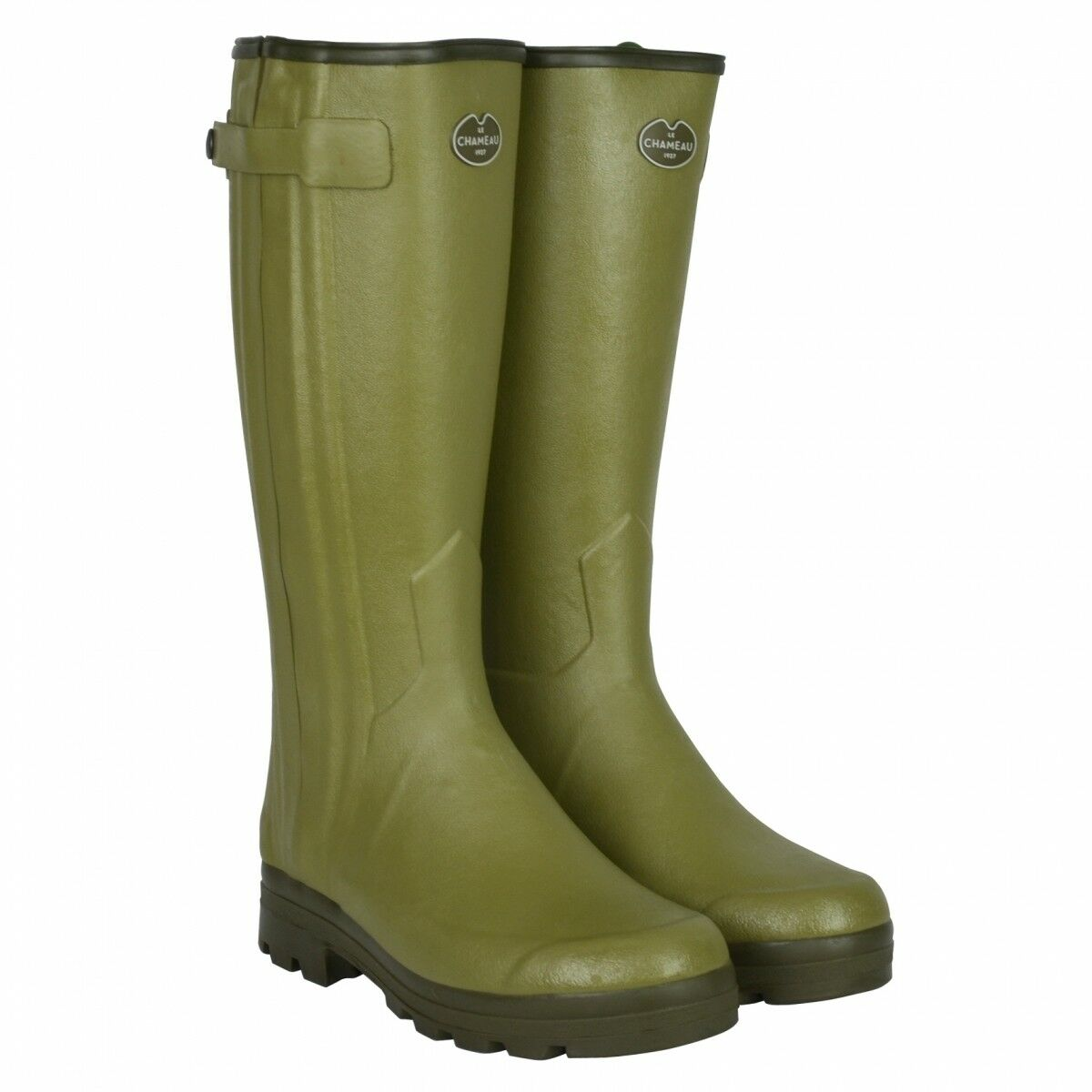 Le Chameau Chasseurnords Mens Full Zip Neoprene Wellington boots FREE UK P&P
