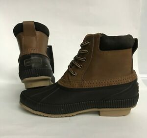 1237f8fe9c86a NIB Men s size 8 TOMMY HILFIGER CASEY LEATHER BOOTS LIGHT BROWN