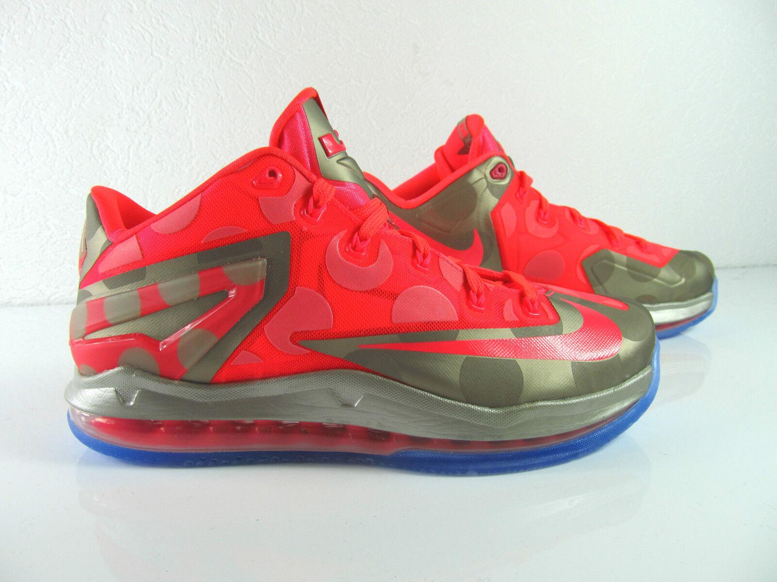 Nike Max Lebron XI 11 Low Maison Du Metallic Basketballschuhe US 8.5 10 Eu 42 44