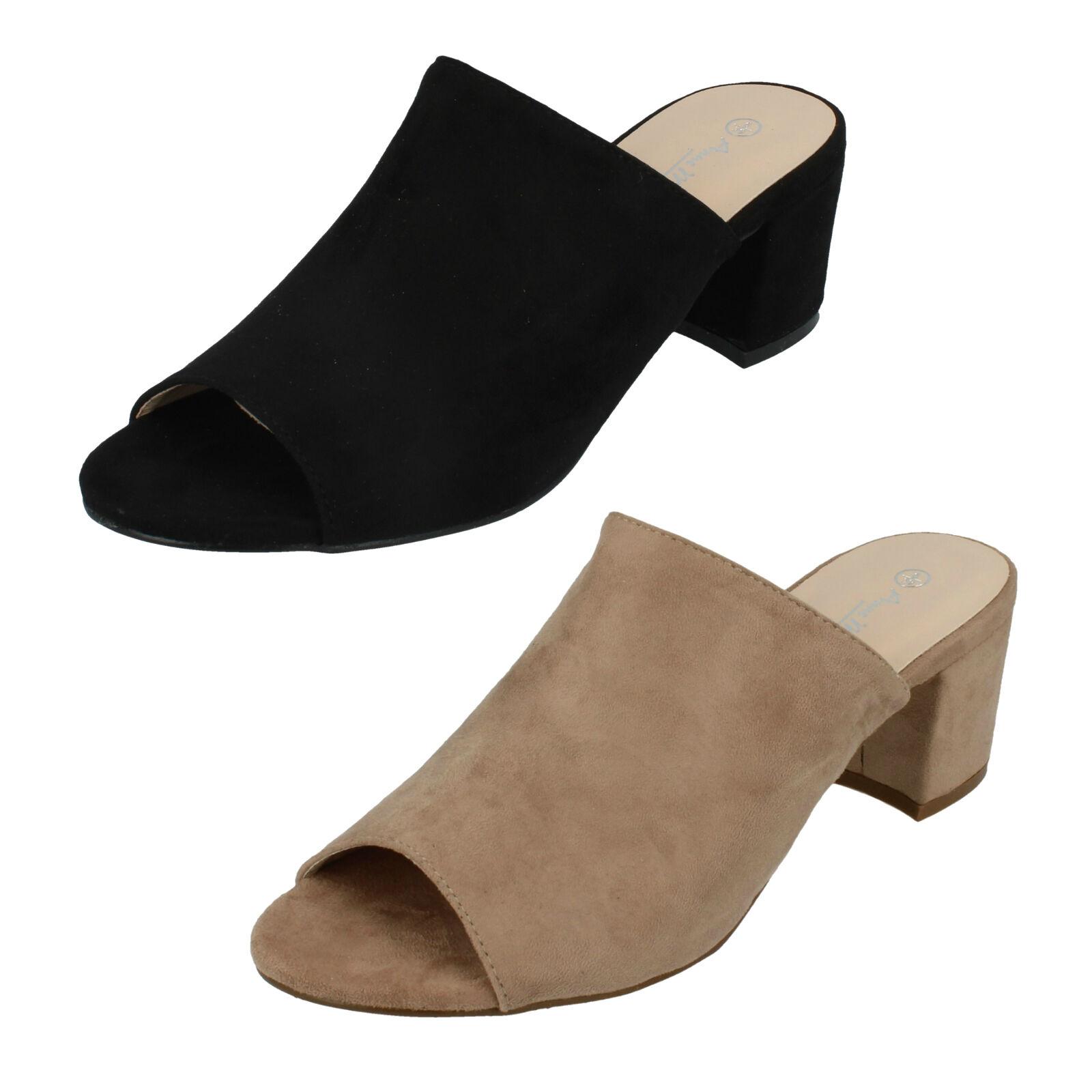 Da Donna Aperta Anne Michelle Slip On Pantofole con Punta Aperta Donna (2 Colori) Stile: dd4e5d
