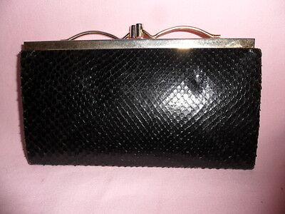 Antico Portafoglio Donna Pelle Serpente Vintage 1950 Top Condizione-mostra Il Titolo Originale
