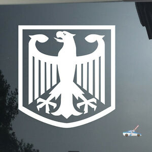 Pair 4/'/' high Germany German Flag Coat of Arms Eagle Car Decal Bumper Sticker