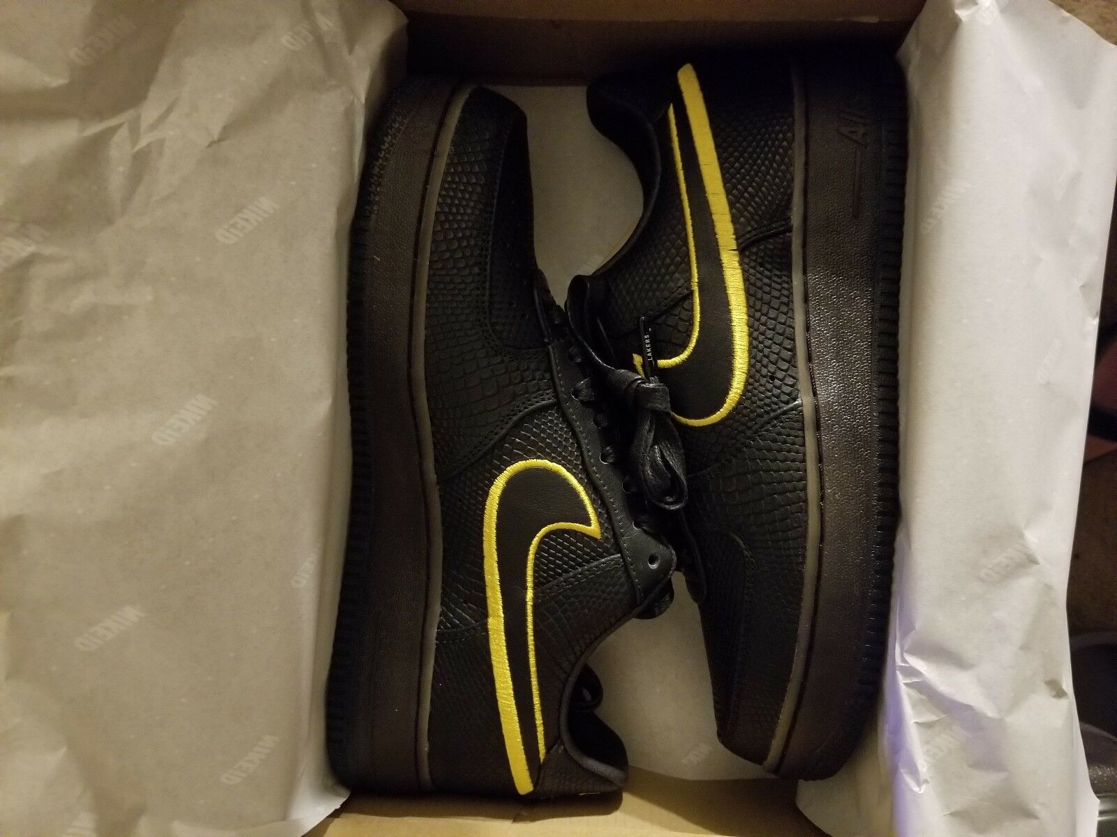 Nike Air Force 1 Low Premium iD Kobe Black Mamba Retirement 8 24 Comfortable Special limited time