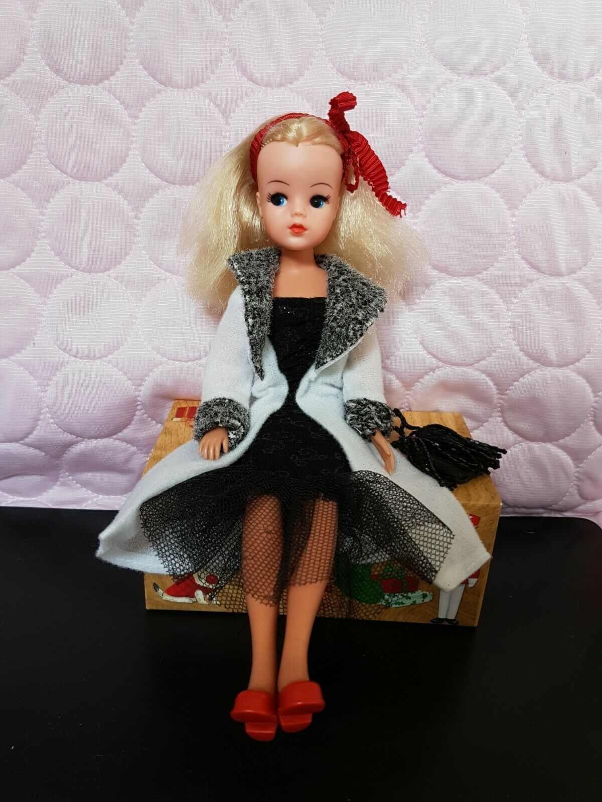 VINTAGE PEDIGREE Sindy doll outfit in fatto in casa