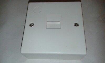 3 X Box Montato Slave A Vite Singola Lju 2/6a Telefono Estensione Presa #vid196- Buona Reputazione Nel Mondo
