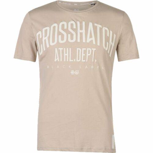 Mens Crosshatch Lightweight Casual Shamen T Shirt Cotton Top Tee S M L XL XXL