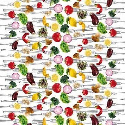 Wachstuch Tischdecke Meterware C147060 Vegetabe Gemüse eckig rund oval