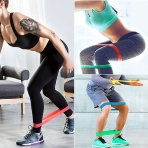 Sports Resistance Bands Loop Exercise Yoga Elastic Stretch Band Fitness Training