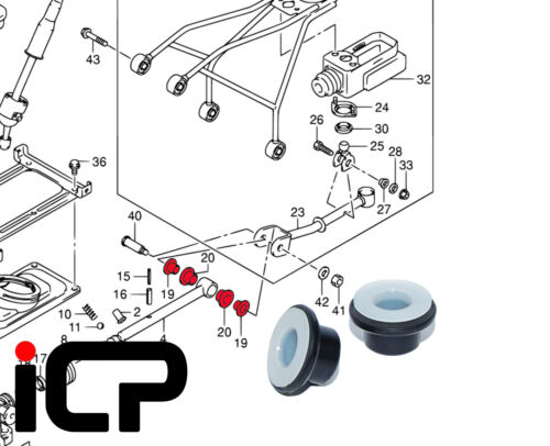 Véritable Levier De Vitesse Sélecteur Arbre inner /& Outer Bush Kit pour Suzuki Jimny 05 sur