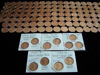1959-2016 BU Lincoln Cent Set -Complete with all 7-1982 Pennies & 1960 P+D Sm Dt