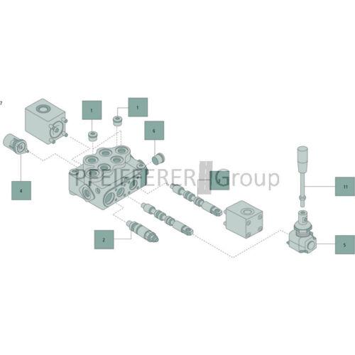 Walvoil palanca lotes x-sd-5-h-al01-m8x120 V-nº 170011012