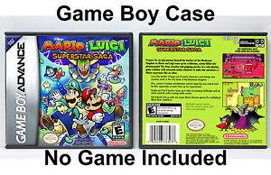 Mario And Luigi Superstar Saga Game Boy Advance Gba Custom Case