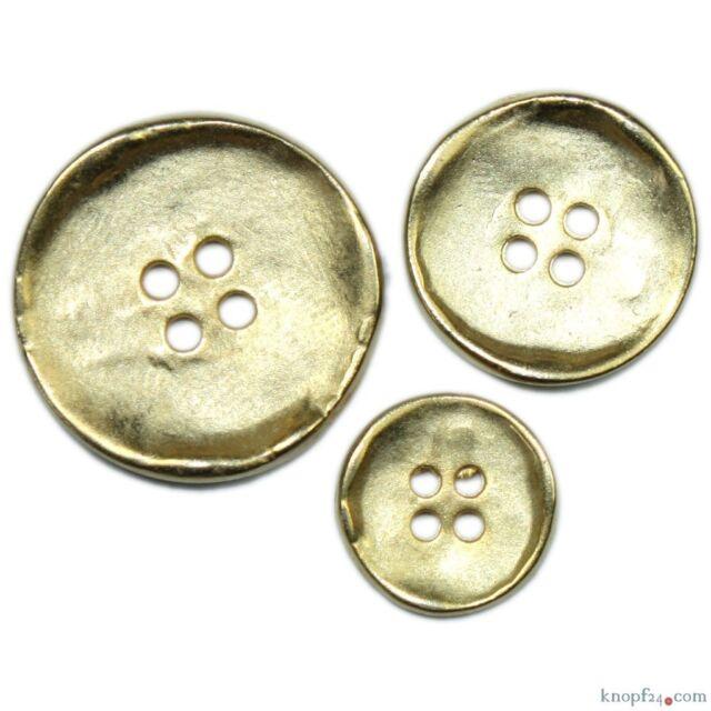 Metallknopf goldfarben Ø 15, 20 oder 25 mm