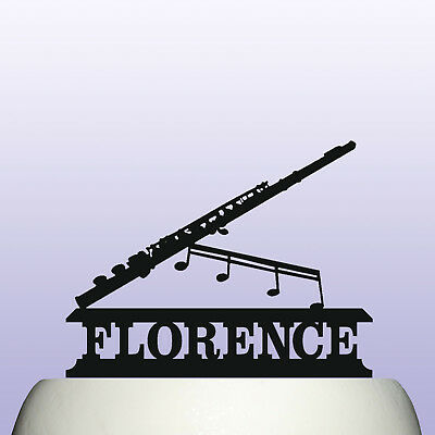 Personalised Acrylic Clarinet Woodwind Instrument Birthday Cake Topper