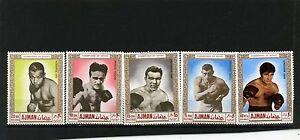 Ajman 1969 Mi#382-386a Sport Boxe Lot De 5 Timbres Neuf Sans Charnière-afficher Le Titre D'origine Jouir D'Une Haute RéPutation Sur Le Marché International