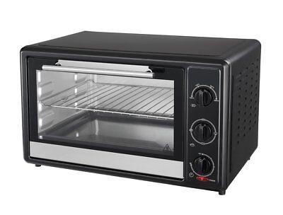 Mini Backofen 20 Liter Pizzaofen Ofen mit Backblech Timer 1400W Schwarz BF09sz