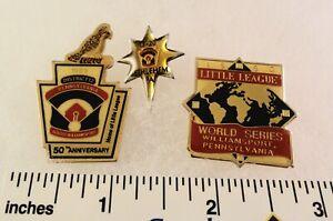 3-Little-League-Baseball-PINs-PA-D20-D12-1990-World-Series-etc
