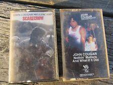2 LOT Cassette Tape JOHN COUGAR Mellencamp - Scarecrow Nothin' Matters & What If