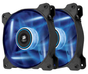 Corsair-Air-Series-AF120-Blue-LED-Quiet-Edition-High-Airflow-120mm-Fan-Twin-Pack
