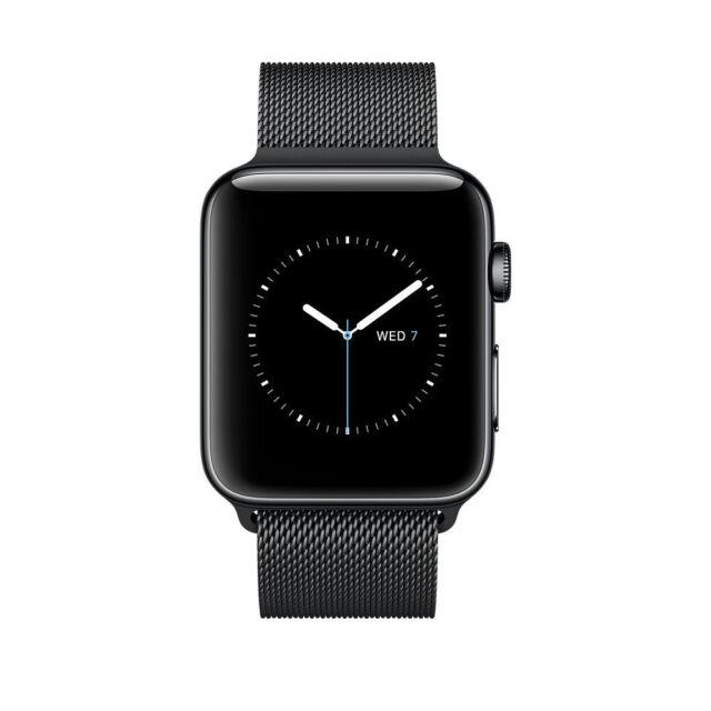 Apple Watch Series 2 38mm Stainless Steel Case Space Black Milanese Loop Mnpe2ll A For Sale Online Ebay