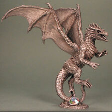 Amber Dragon Pewter Figurine Karas & Rocha Sandra Garrity Dark Heaven Legends