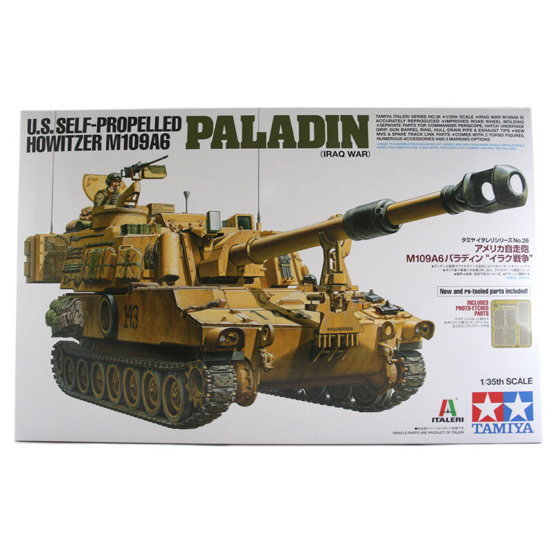 Tamiya Italeri US Howitzer M109A6 Paladin (Iraq War) Tank Model Set 37026 NEW