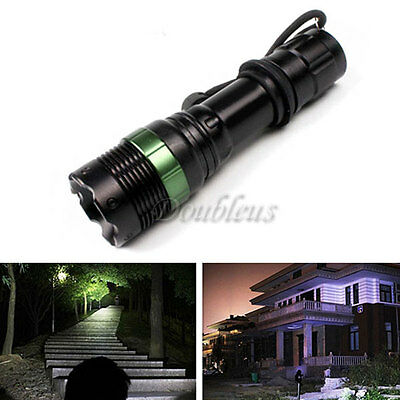 3500 Lumen Zoomable CREE XM-L Q5 LED Flashlight Torch Zoom Lamp Light 18650 AAA