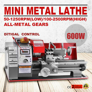 Details about 600W Mini Metal Turning Lathe Woodworking Tool Bench Top  Variable Speed Milling