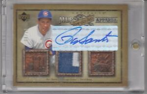 2006-Upper-Deck-Artifacts-Game-Used-Patch-Apparel-Ron-Santo-Autograph-8-10-Cubs