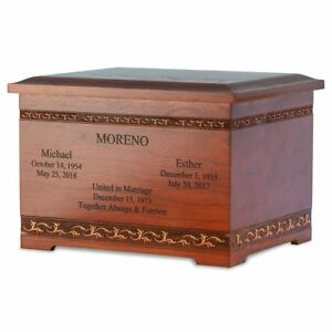 Details about XLarge 400 Cubic Inch Cherry Wood with Art Carving Funeral  Cremation Urn