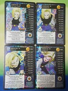 Details about Dragon Ball Z DBZ CCG Panini Custom Proxy Foil Android 18  Level 1-4 MP Set