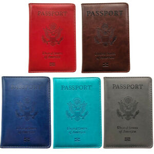 Leather Passport Holder Cover ID Card Wallet Voyage Of Discovery Travel Case