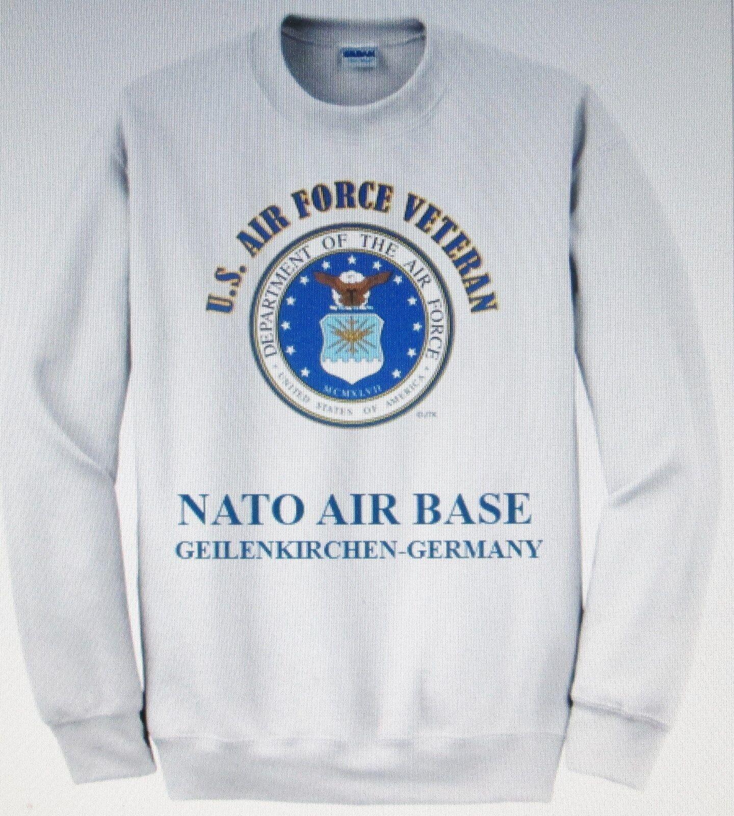 NATO AIR BASEGEILENKIRCHEN-GERMANYU.S. AIR FORCE EMBLEM SWEATSHIRT