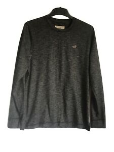 Hollister-Mens-Black-Cotton-Polyester-Long-Sleeve-T-Shirt-L-C284