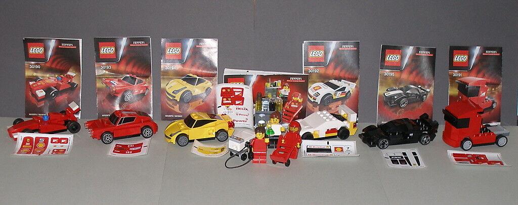 Lego Komplettsatz Komplettsatz Komplettsatz Shell V-Power 6 Ferrari Autos   Modelle + Pit Crew  OVP RAR 360049