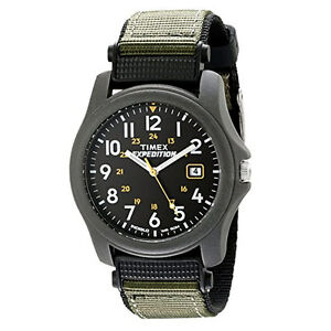 Timex-Mens-T42571-Expedition-Camper-Green-Nylon-Strap-Watch-New-Uk