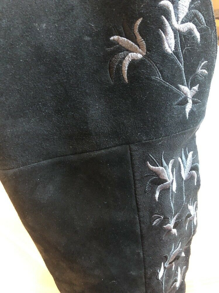 Kenneth Cole Genuine Suede EmbroideROT Length Fashion Knee Length EmbroideROT Stiefel Sz 7 M bc6e3f