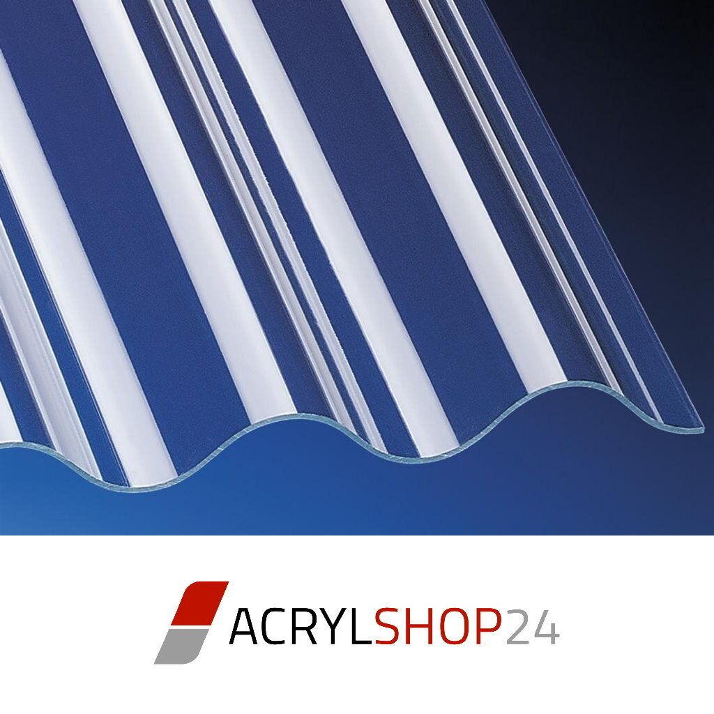Acrylglas Profilplatten Lichtplatten Acryl 130 30 P8 Sinus klar glatt 3mm