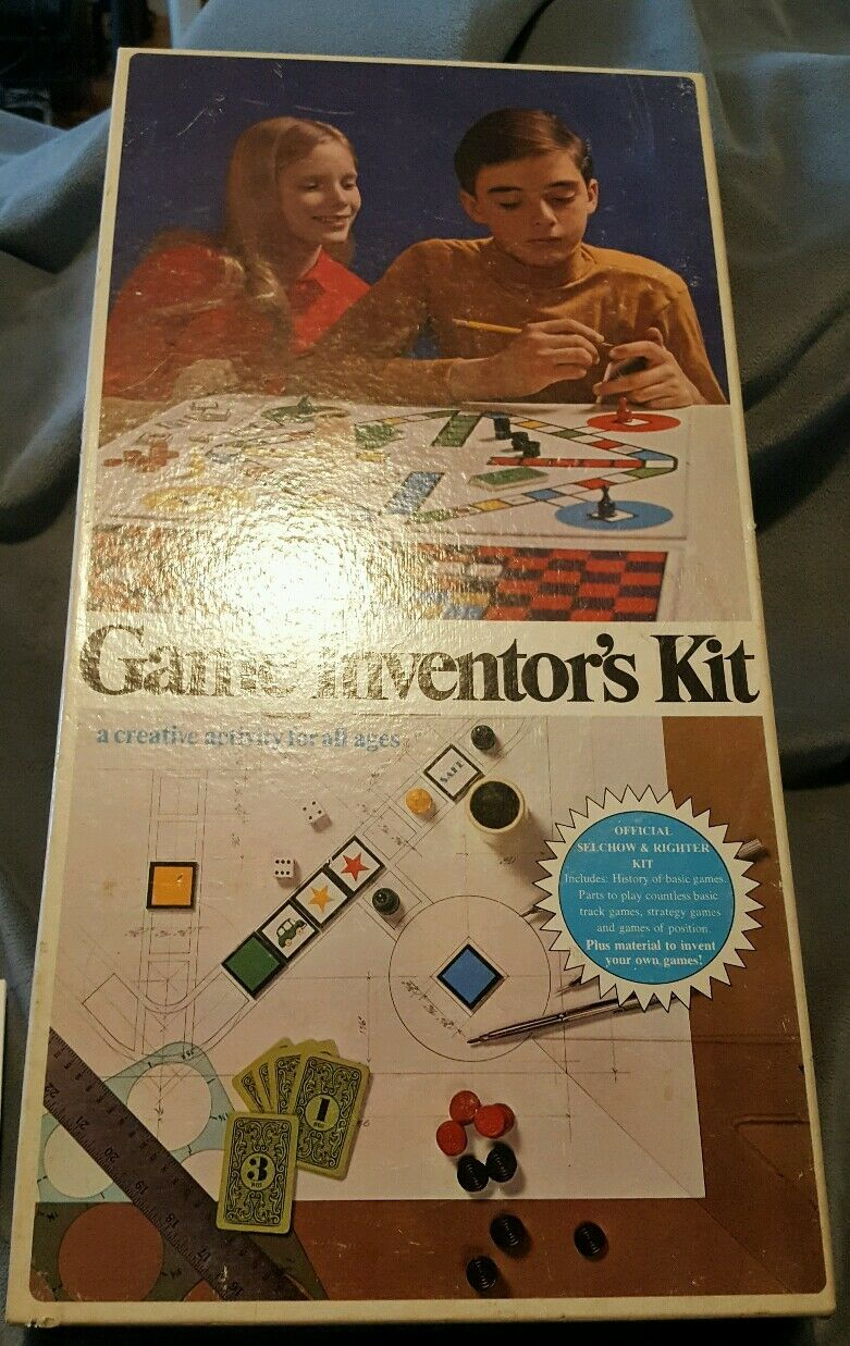Rare 1968 Game Inventor's Kit Board Game by Selchow & Righter - Vintage 1960s