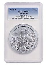 2011-P 25c 5 oz Specimen Silver ATB America Beautiful Glacier PCGS SP69 SKU43623