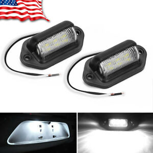 2-Pack-Universal-6-LED-License-Plate-Tag-Lights-Lamps-for-Truck-SUV-Trailer-Van