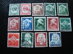 Germany-Stamp-yvert-and-Tellier-N-522-A-534-Obl-A1-Stamp-Germany