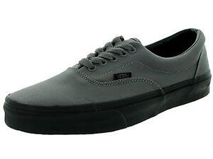 VANS Era Men Women Skate Shoes Gargoyle Charcoal Gray Black Sneakers ... 00c1a263a