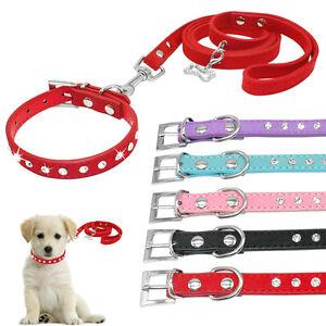 Strasshalsband-Hundehalsband-mit-Leine-Wildleder-Katzen-Welpengeschirr-XXS-XS-S